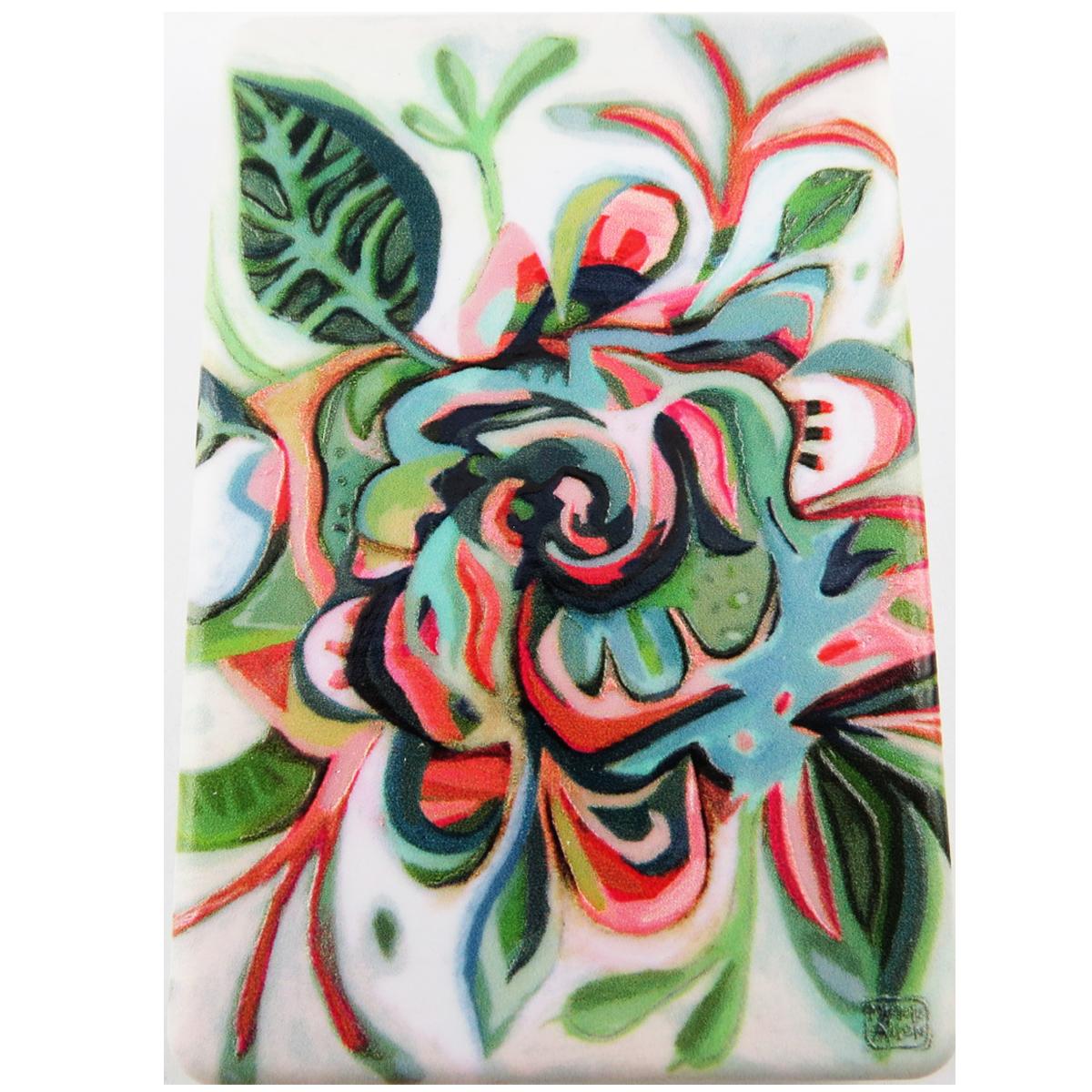 Miroir de poche \'Allen Designs\' vert multicolore (floral) - 85x55 cm - [R1974]