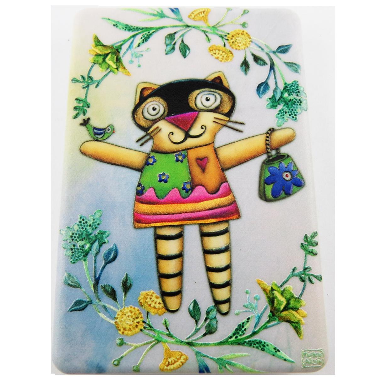 Miroir de poche \'Allen Designs\' multicolore (chat) - 85x55 cm - [R1976]