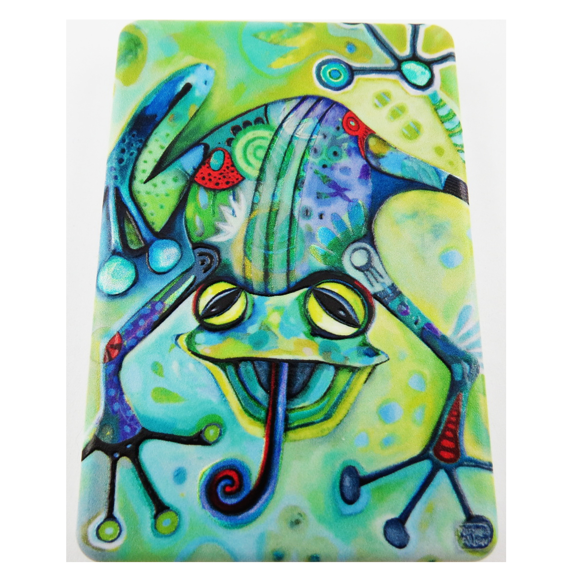 Miroir de poche \'Allen Designs\' vert (grenouille) - 85x55 cm - [R1977]