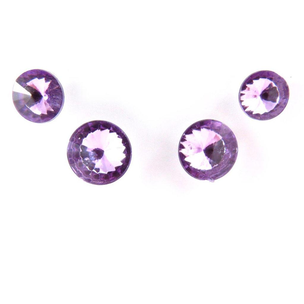 2 paires de boucles \'Cristal\' violet - [J6203]
