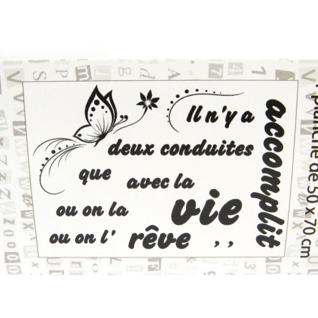 Planche de stickers \'Accomplir la Vie\' (20x70 cm) - [M5222]