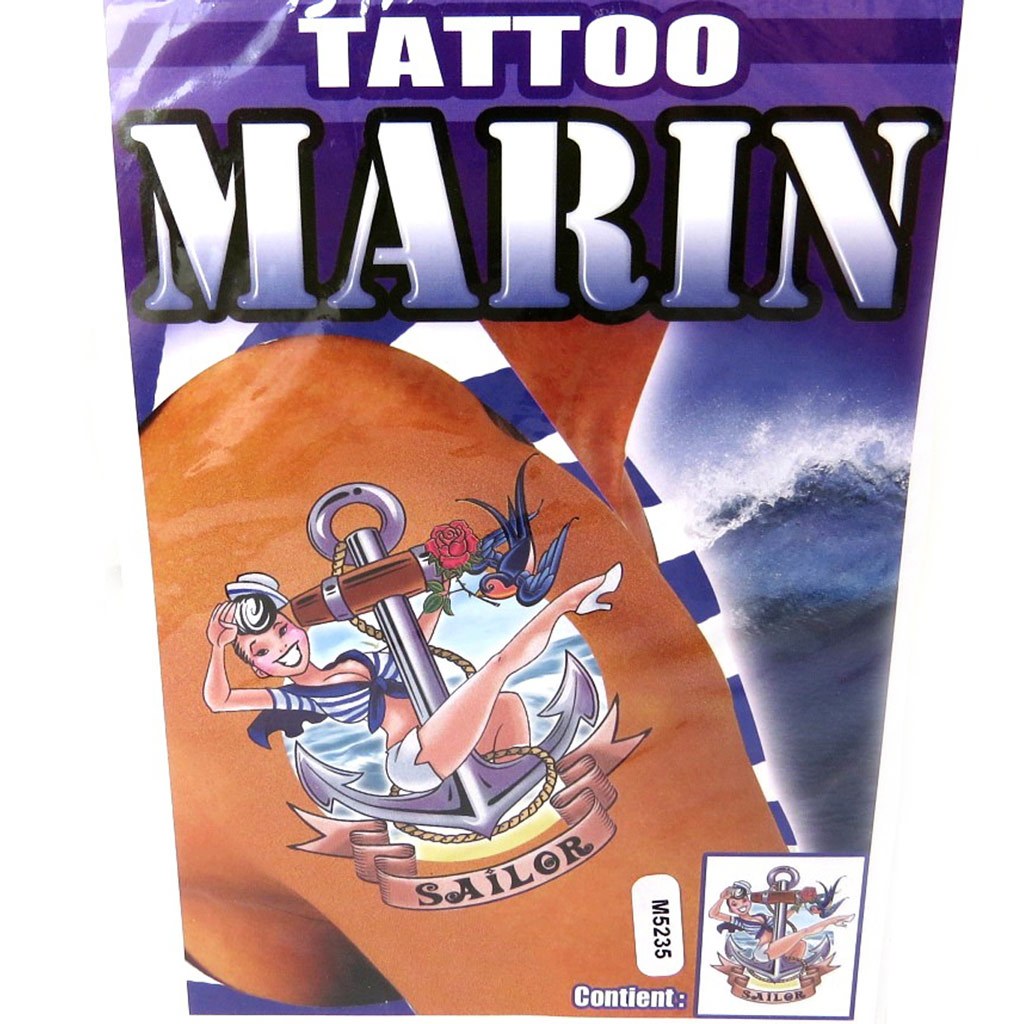Tatouage fantaisie \'Marin\' (19x125 cm) - [M5235]
