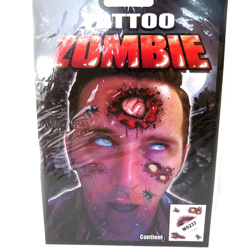 Tatouage fantaisie \'Zombie\' (19x125 cm) - [M5237]