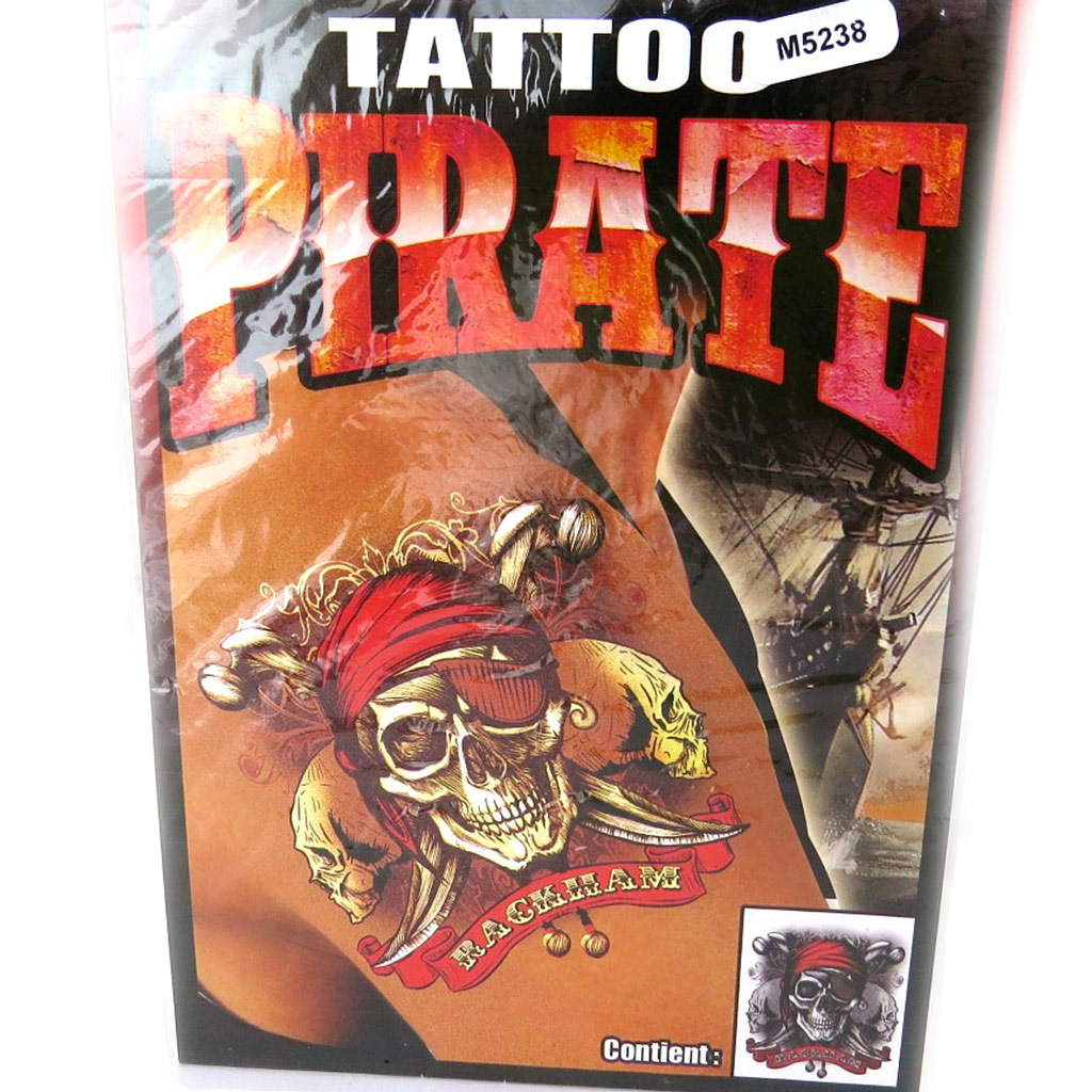 Tatouage fantaisie \'Pirate\' (19x125 cm) - [M5238]
