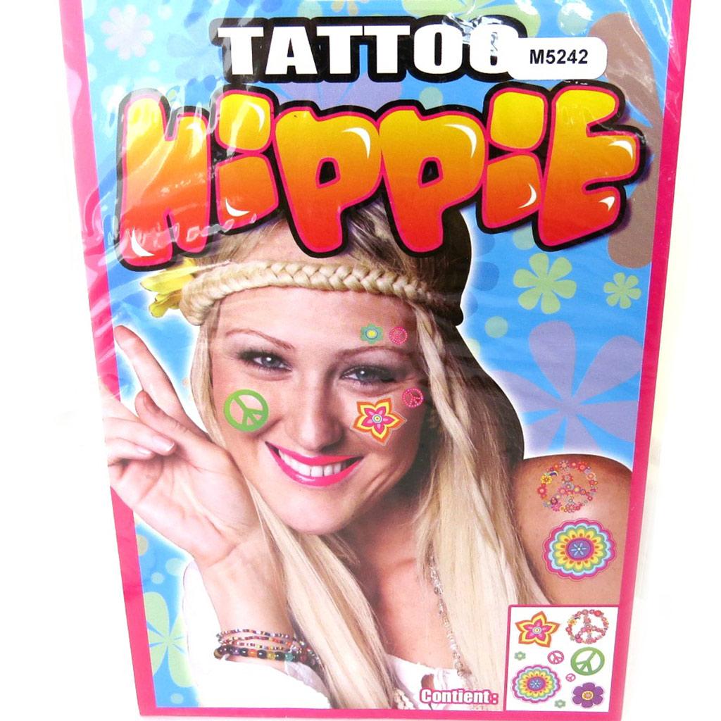 Tatouage fantaisie \'Hippie\' (19x125 cm) - [M5242]