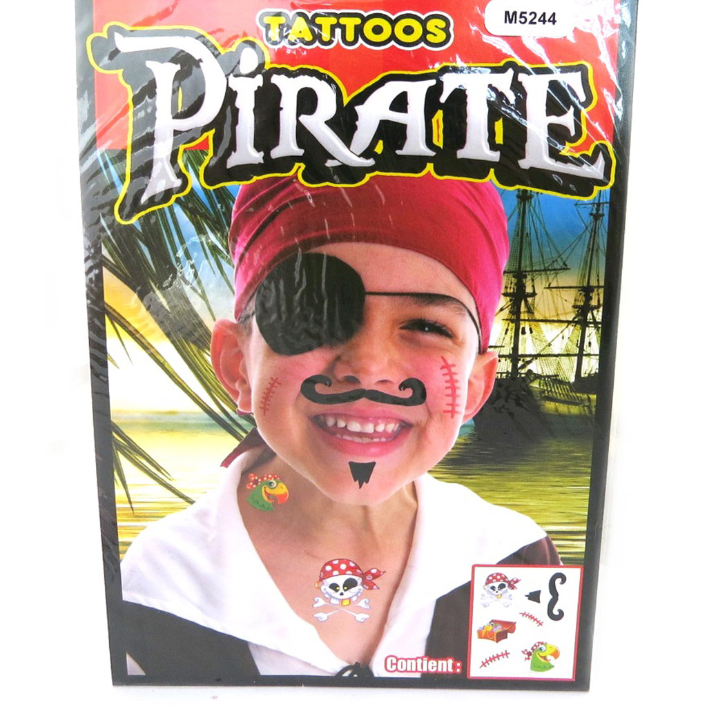 Tatouage fantaisie \'Pirate\' (19x125 cm) - [M5244]