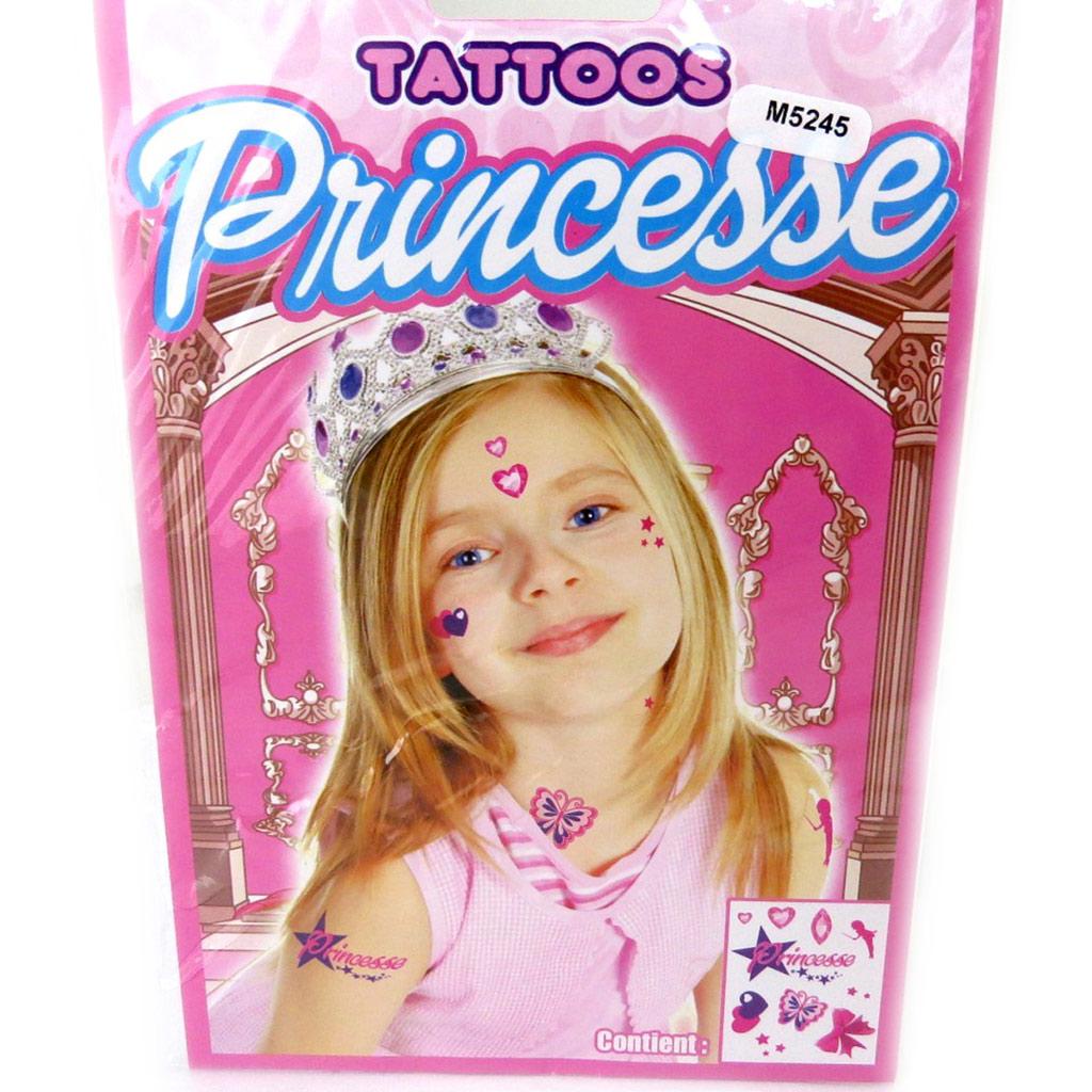 Tatouage fantaisie \'Princesse\' (19x125 cm) - [M5245]