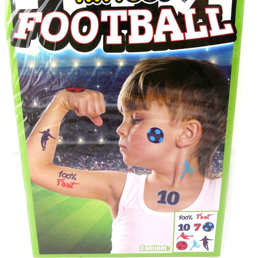Tatouage fantaisie \'Football\' (19x125 cm) - [M5246]
