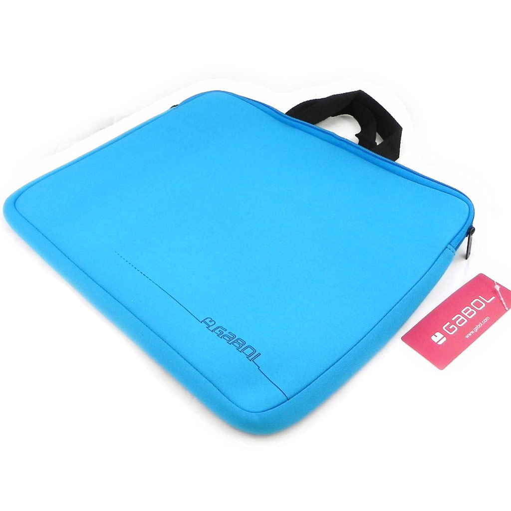 Housse de portable \'Simplicité\' bleu azur (spécial ordinateur 15\') - [I7904]