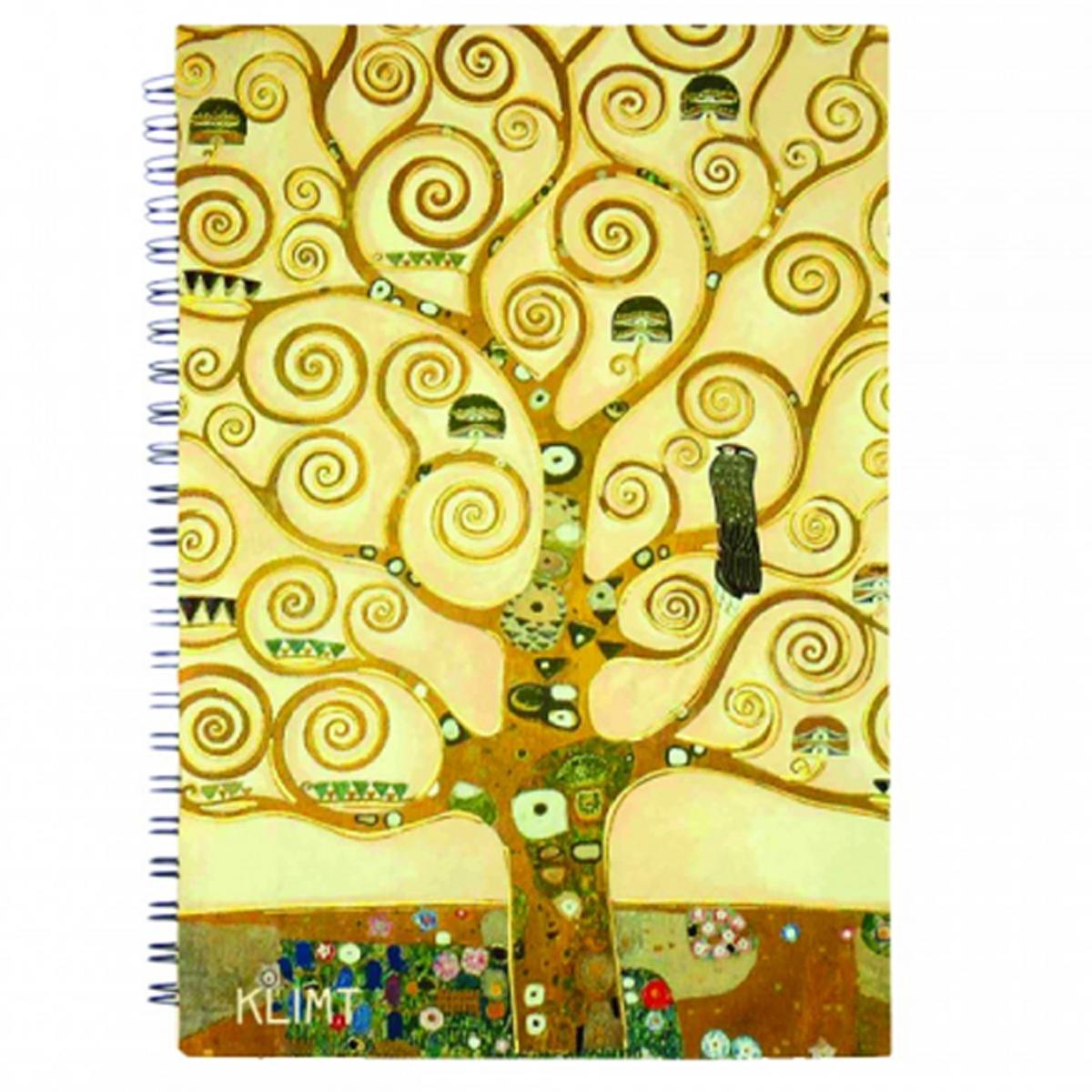 Carnet à spirale \'Gustav Klimt\' (Arbre de vie) - 18x13 cm - [R2005]