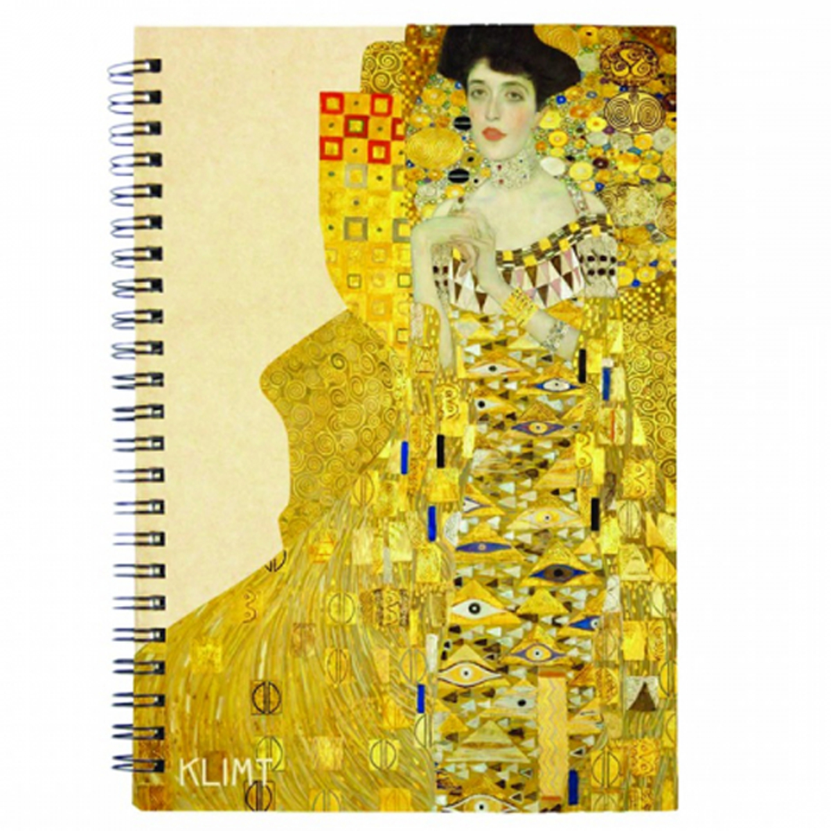 Carnet à spirale \'Gustav Klimt\' (Adèle) - 18x13 cm - [R2006]