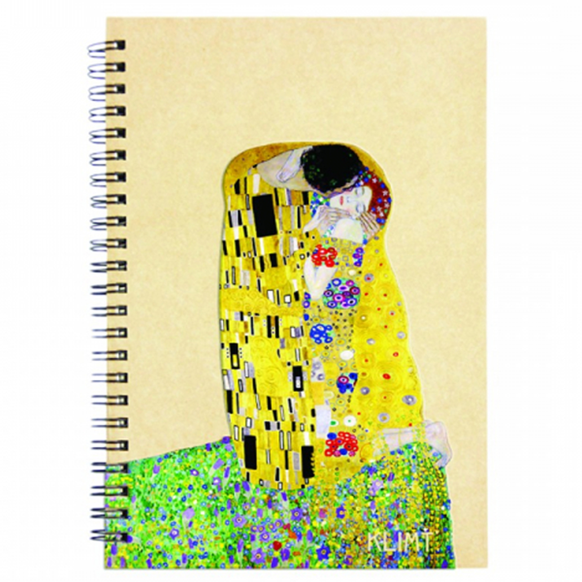 Carnet à spirale \'Gustav Klimt\' (Le Baiser) - 18x13 cm - [R2007]