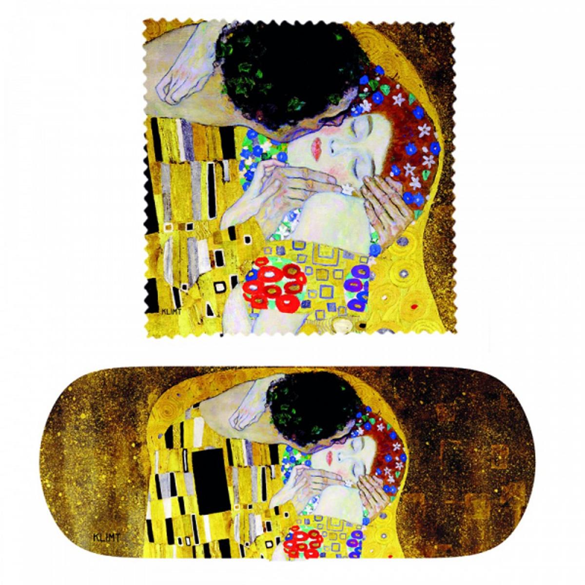 Etui à lunettes \'Gustav Klimt\' (Le Baiser) - 16x6x36 cm - [R2009]