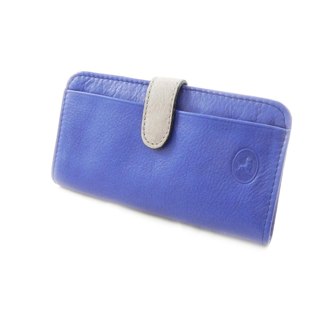 Porte-cartes Cuir \'Frandi\' bleu gris sauvage - [I7956]