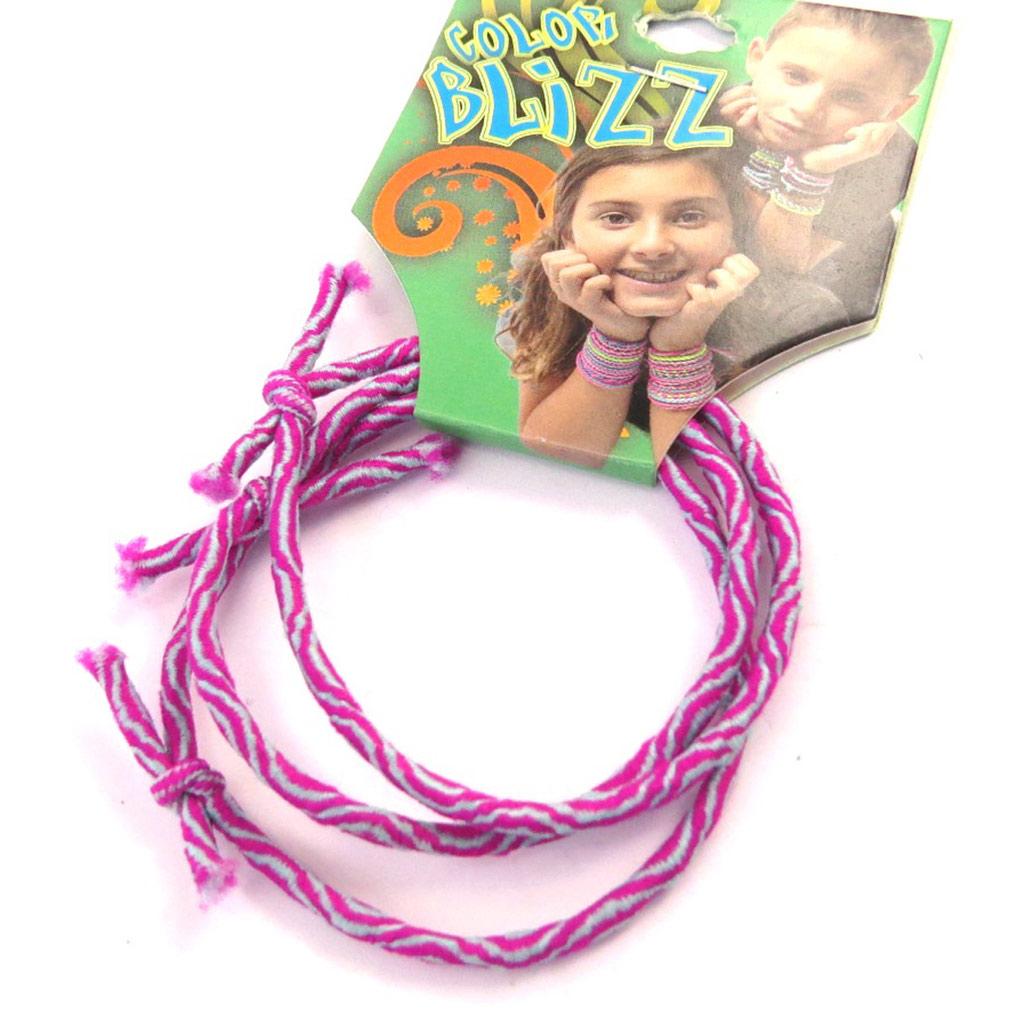 3 bracelets élastiques \'Coloriage\' rose - [M5315]