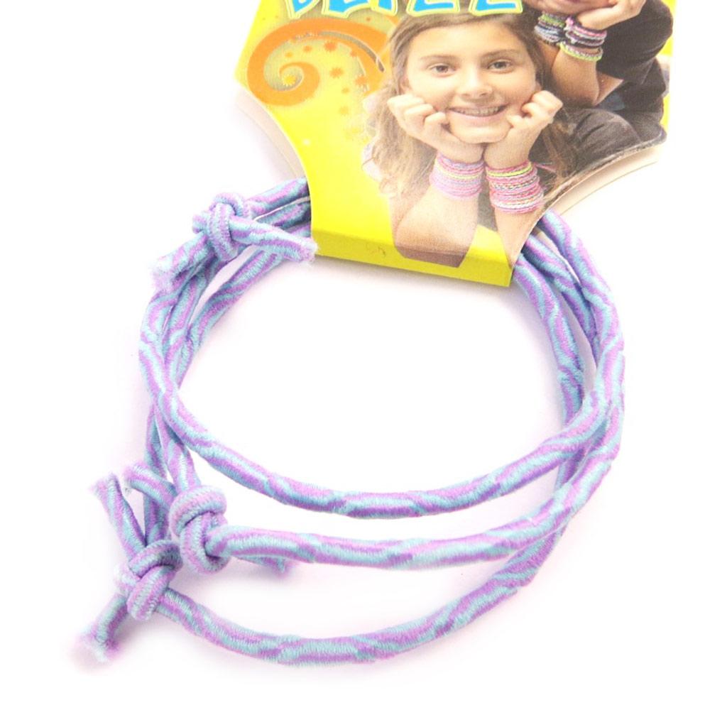3 bracelets élastiques \'Coloriage\' violet  - [M5317]