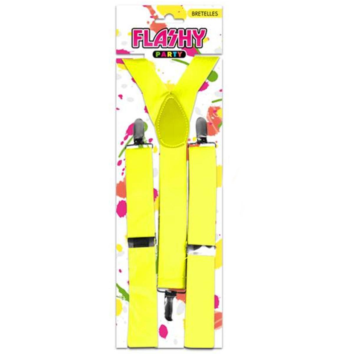 Bretelles \'Coloriage\' jaune - [K4799]