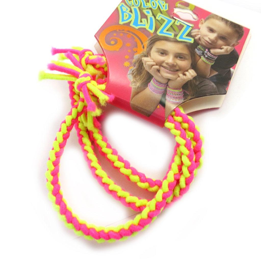 3 bracelets élastiques \'Coloriage\' jaune rose - [M5329]