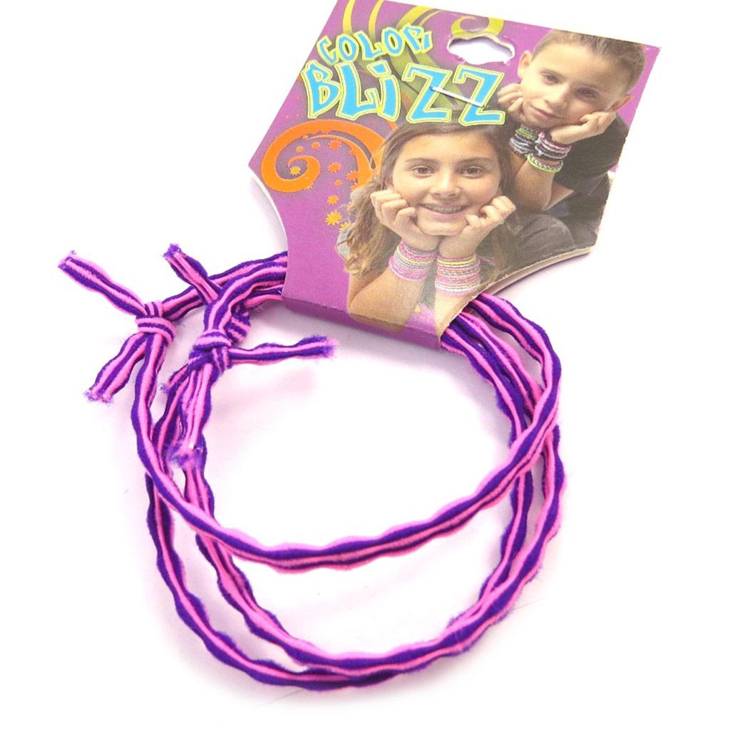 3 bracelets élastiques \'Coloriage\' rose mauve - [M5335]