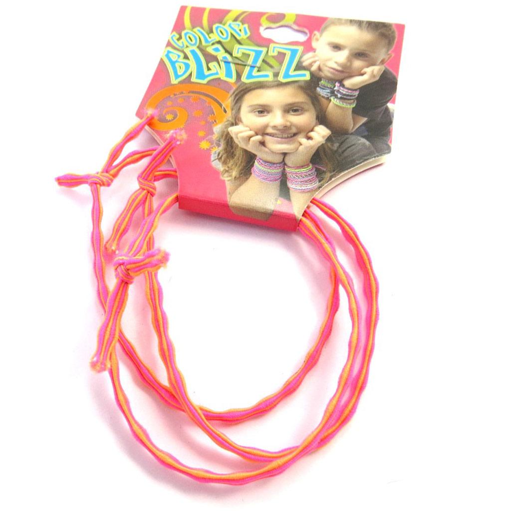 3 bracelets élastiques \'Coloriage\' rose  - [M5339]