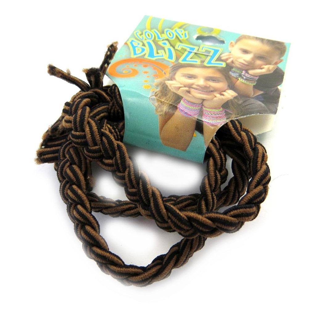 3 bracelets élastiques \'Coloriage\' marron - [M5346]
