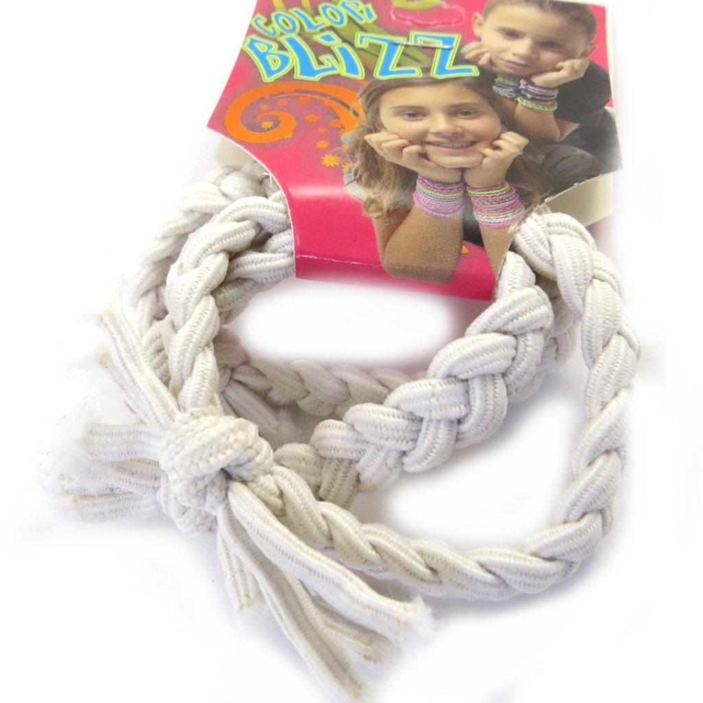 3 bracelets élastiques \'Coloriage\' blanc - [M5347]