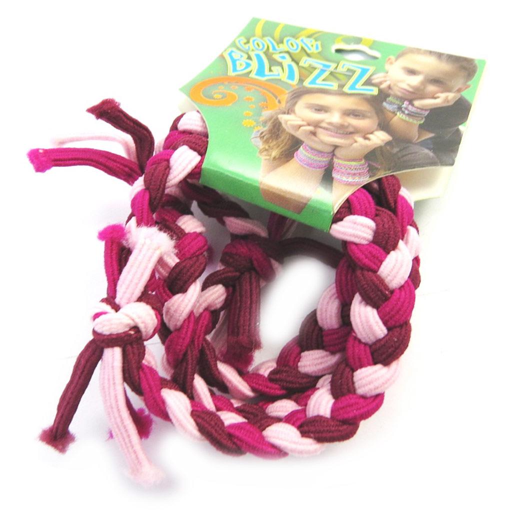 3 bracelets élastiques \'Coloriage\' bordeaux rose - [M5348]