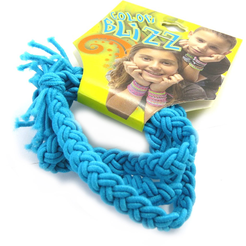 3 bracelets élastiques \'Coloriage\' turquoise - [M5349]