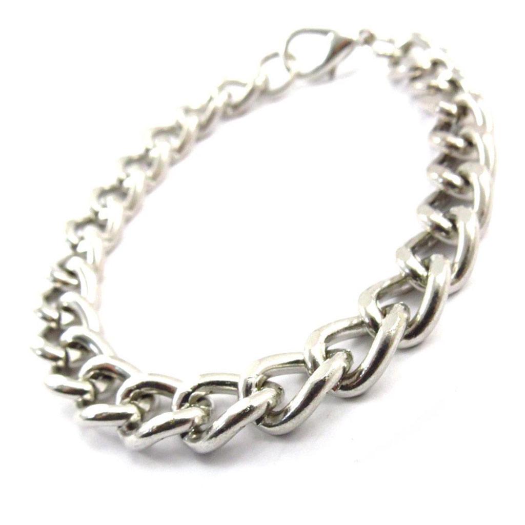 Bracelet \'Maille Gourmette\' Argenté  - [J6326]