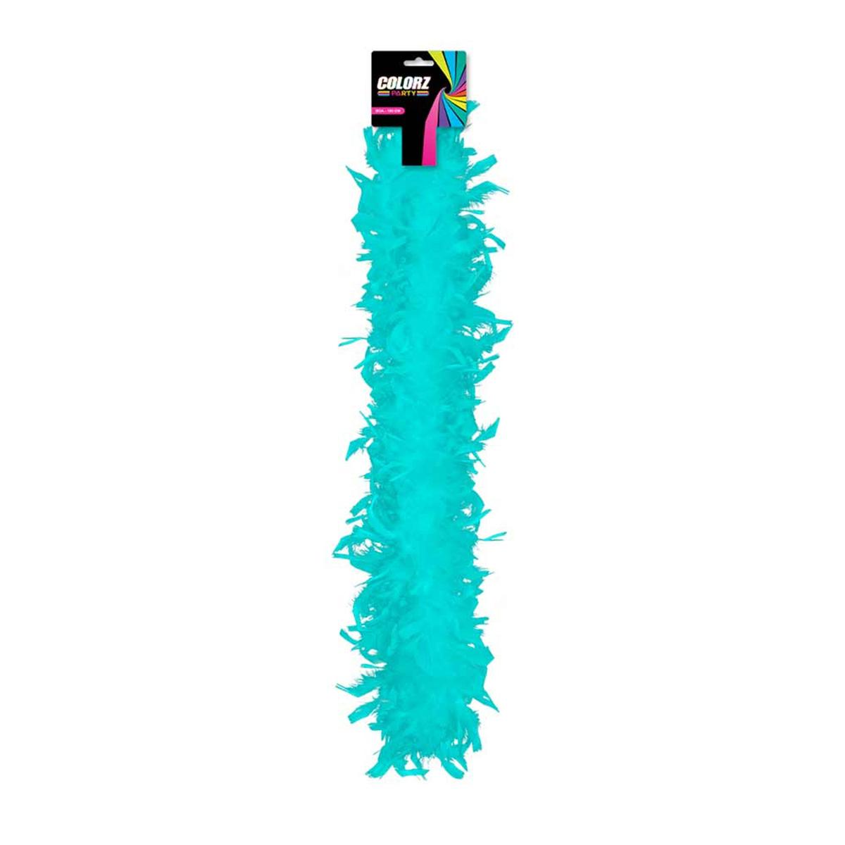 Boa \'Coloriage\' turquoise - 185 cm - [R2090]
