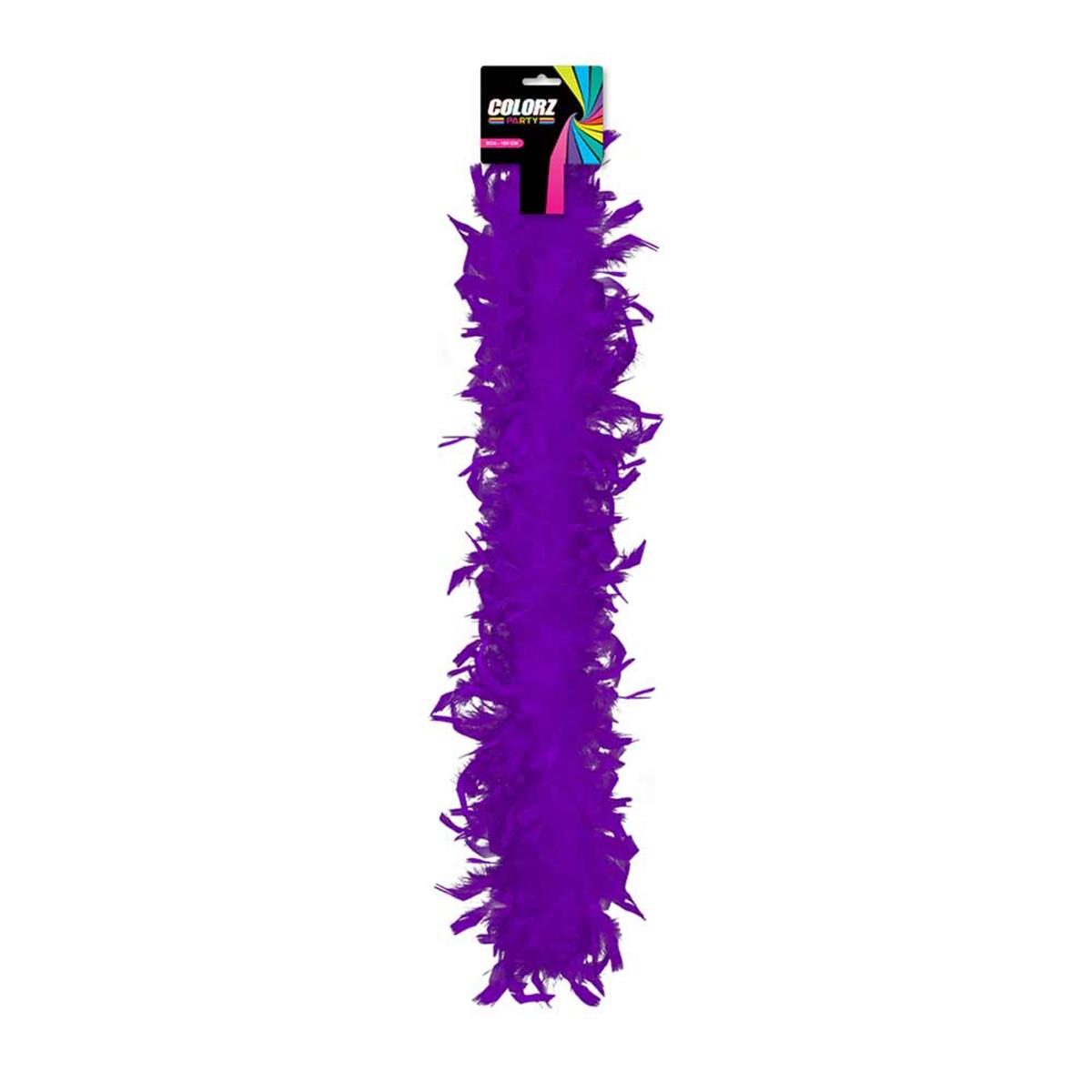 Boa \'Coloriage\' violet - 185 cm - [R2091]