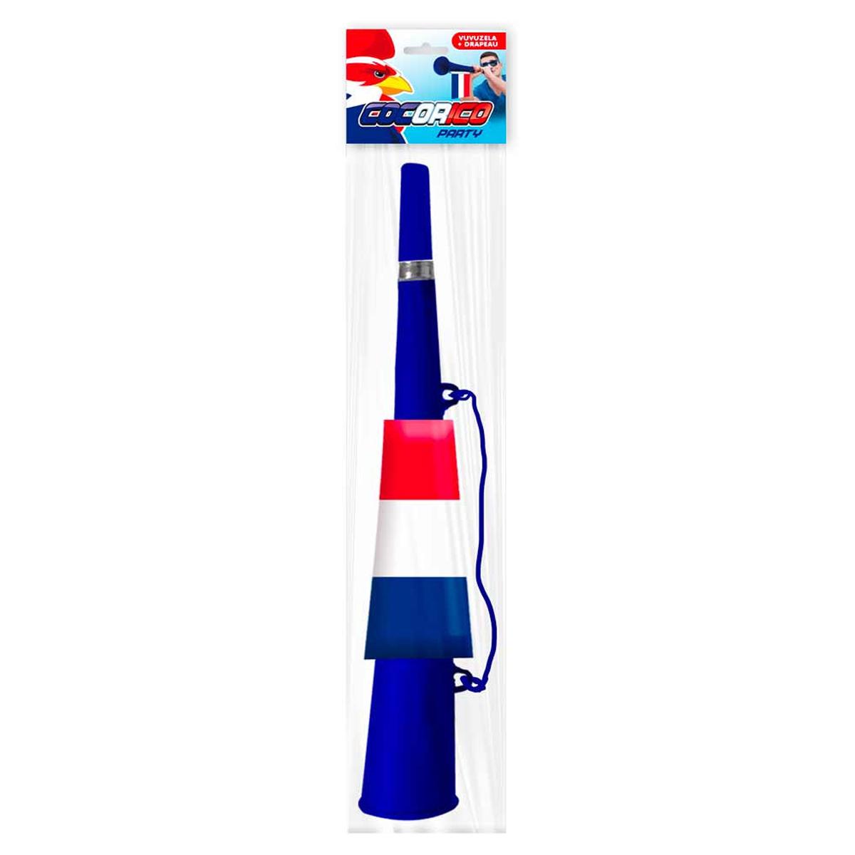 Vuvuzela \'France Cocorico\' tricolore - 44x11 cm - [R2100]