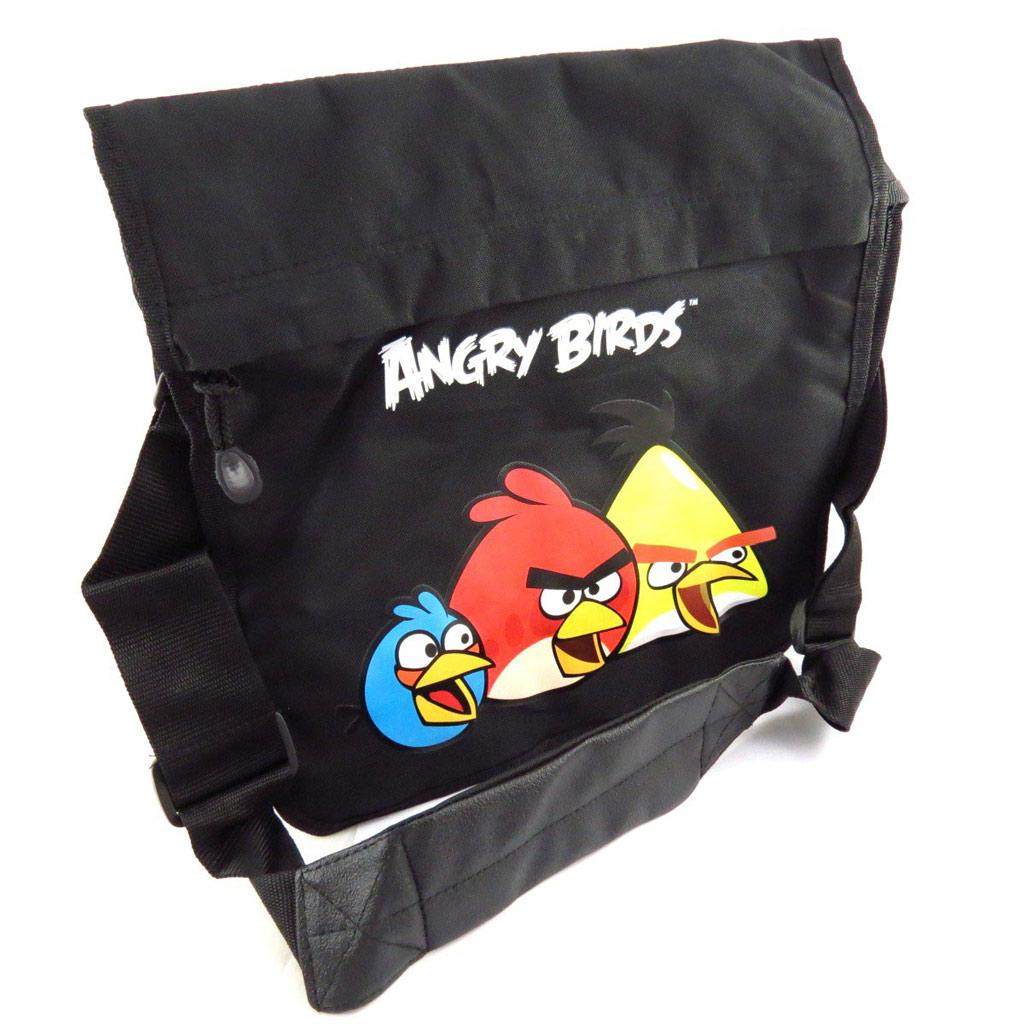 Sac bandoulière \'Angry Birds\' noir multicolore - [J6445]