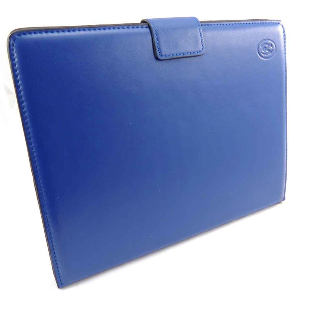 Etui Ipad \'Lafayette\' bleu (Ipad 2 / 3) - [J6563]