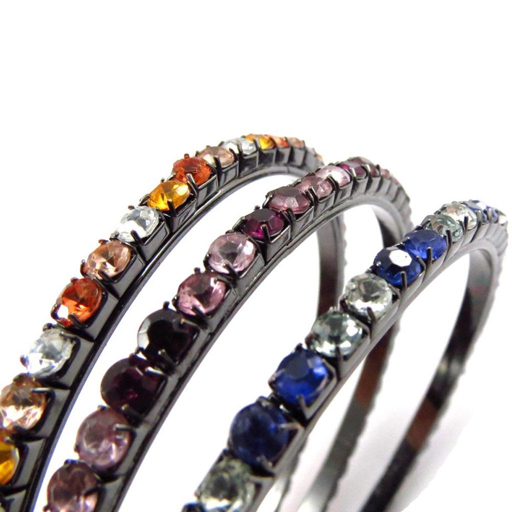 Bracelet créateur \'Sissi\' tutti frutti (3 rangs) - [J6662]
