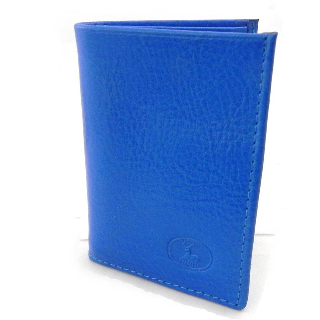 Porte-cartes Cuir \'Frandi\' bleu roi (york écologique) - [I8348]
