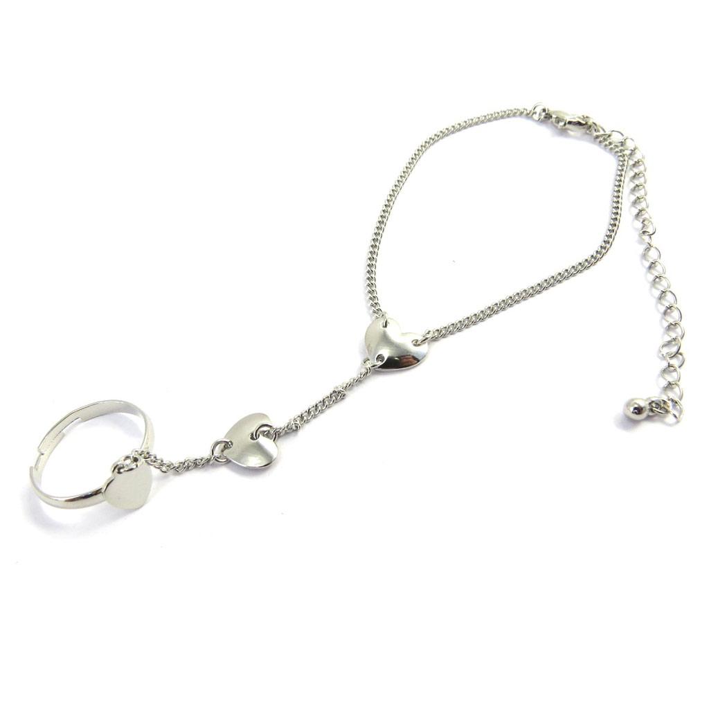 Bracelet bague \'Love\' argenté - [M5652]