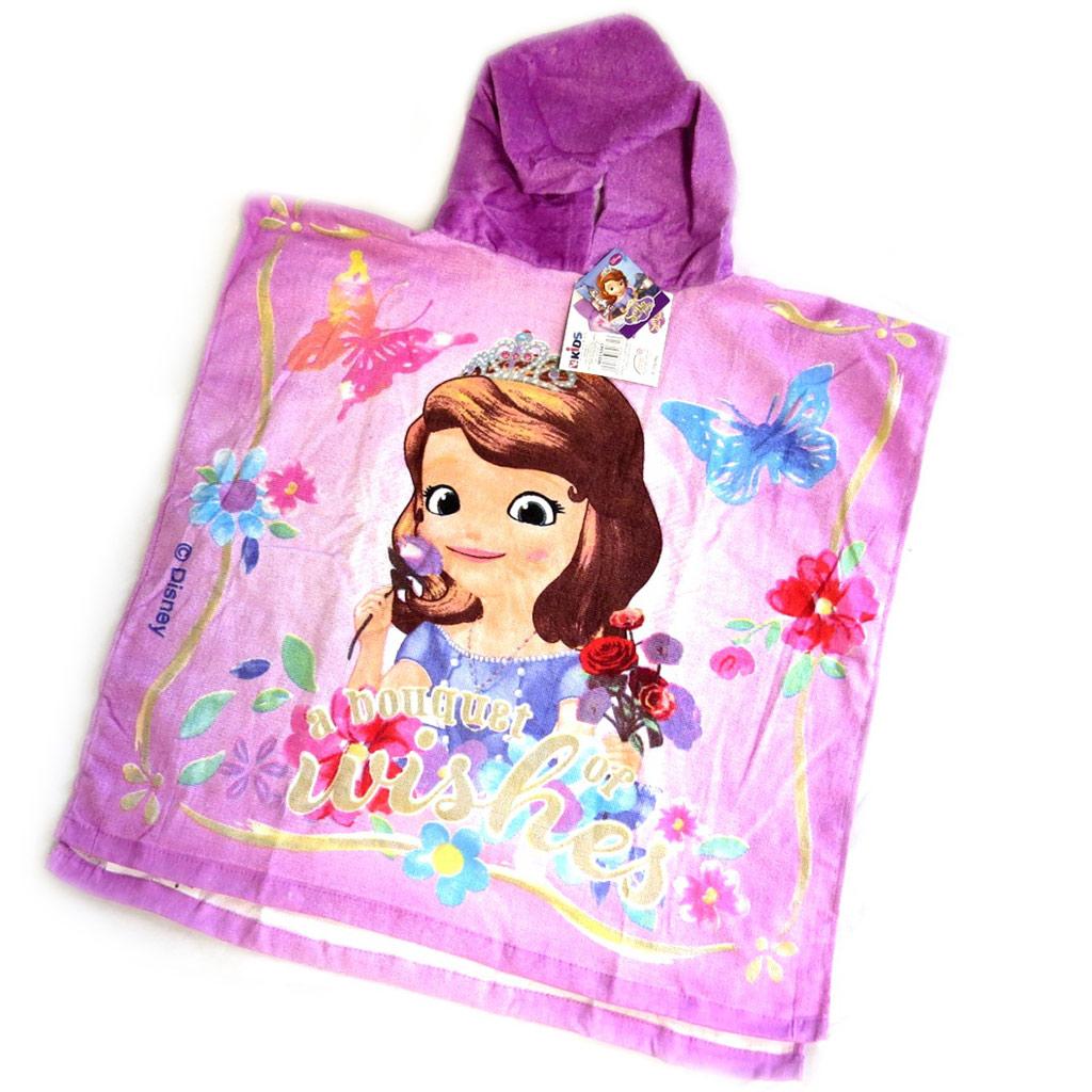 Poncho sortie de bain enfant \'Princesse Sofia\' violet - [M5703]