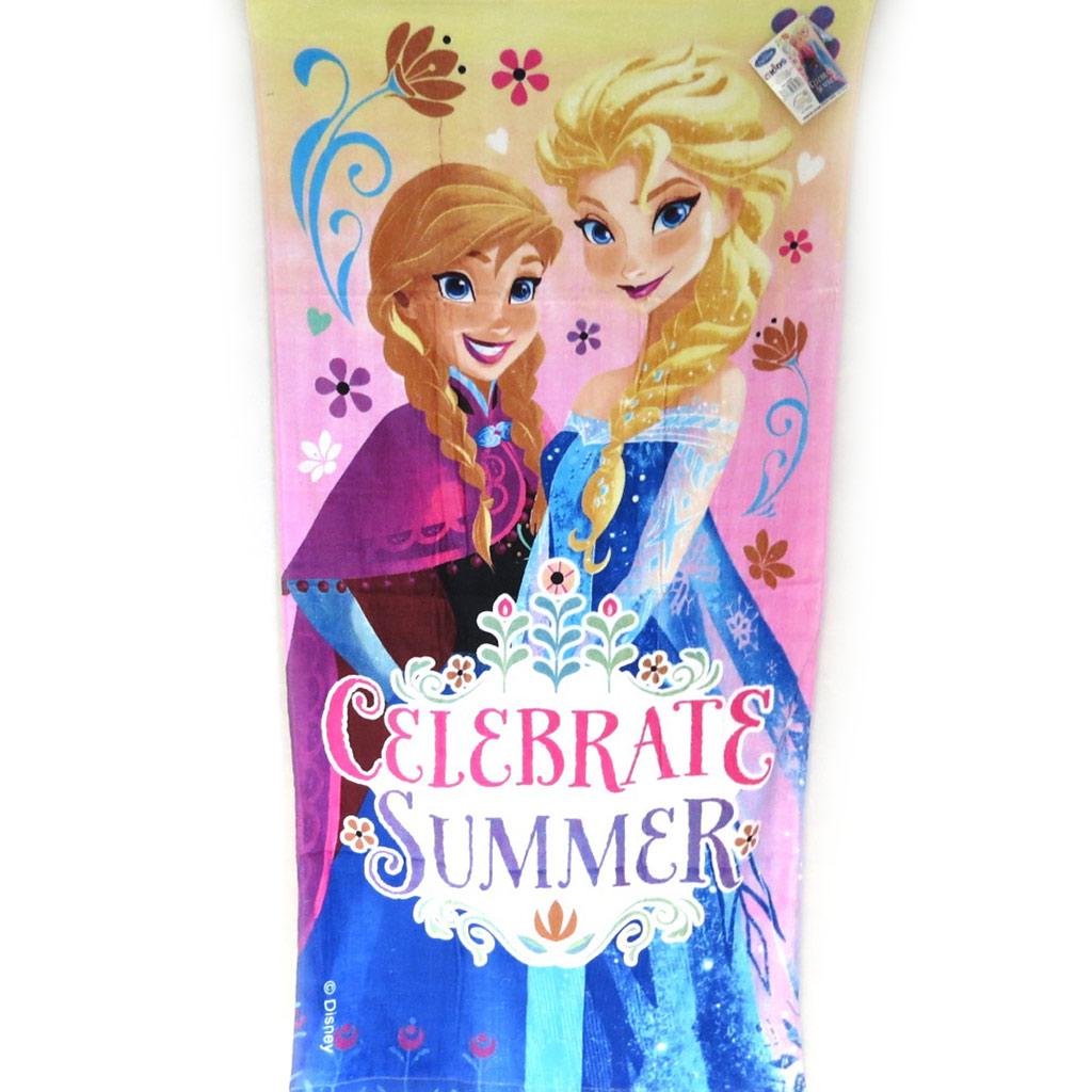 Drap de plage \'Frozen - Reine des Neiges\' multicolore (70x140 cm) Celebrate Summer - [M5711]