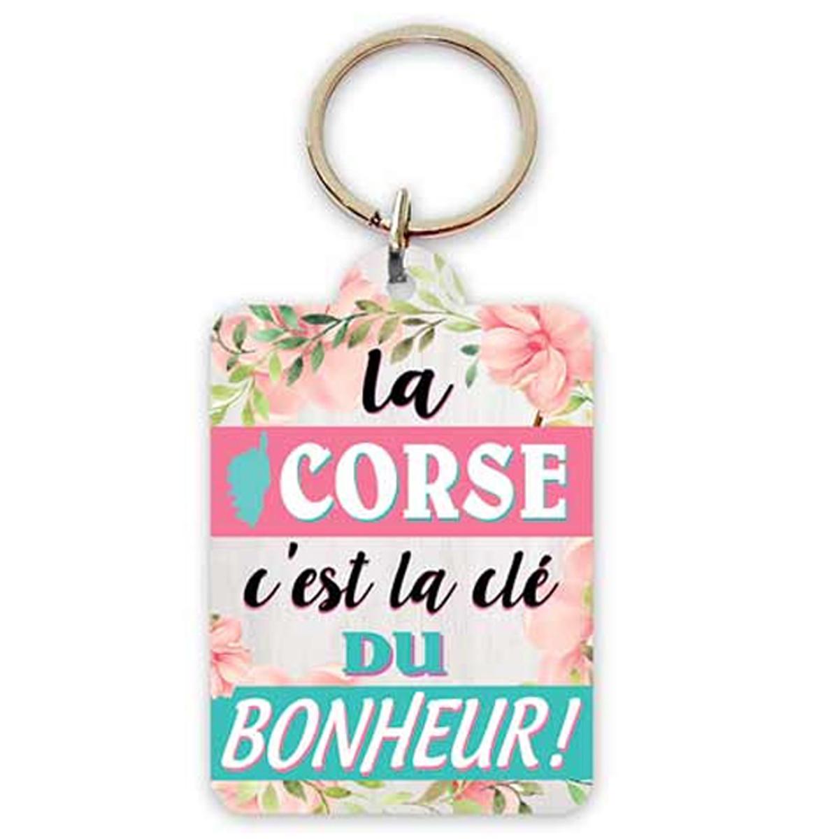 Porte-Clés \'Corsica\' (la Corse c\'est la clé du Bonheur !) - 65x45 cm - [R2305]