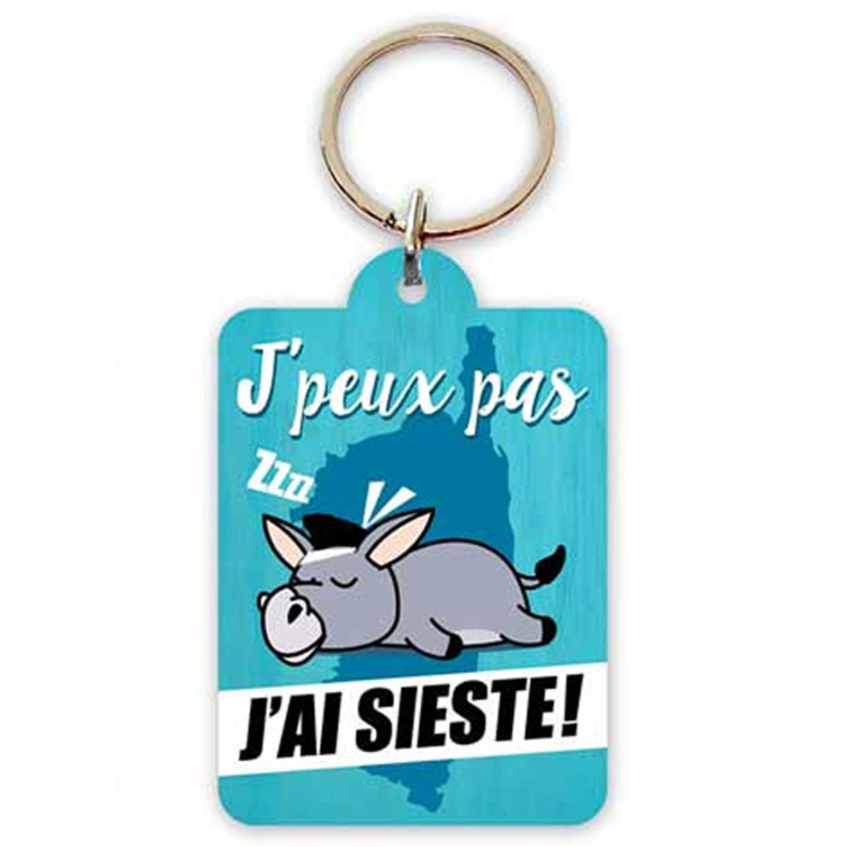 Porte-Clés \'Corsica\' (J\'peux pas, j\'ai Sieste !) - 65x45 cm - [R2309]