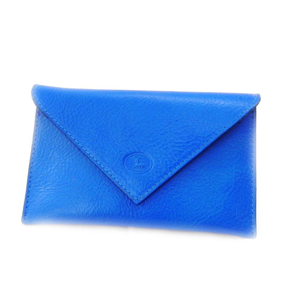 Porte Papiers de voiture Cuir \'Frandi\' bleu roi york écologique (ultra plat) - [I8708]