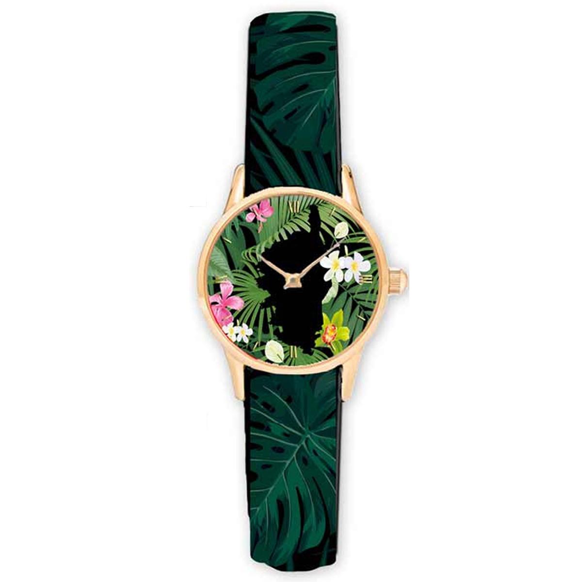 Montre créateur \'Corsica\' vert noir - 38 cm - [R2323]