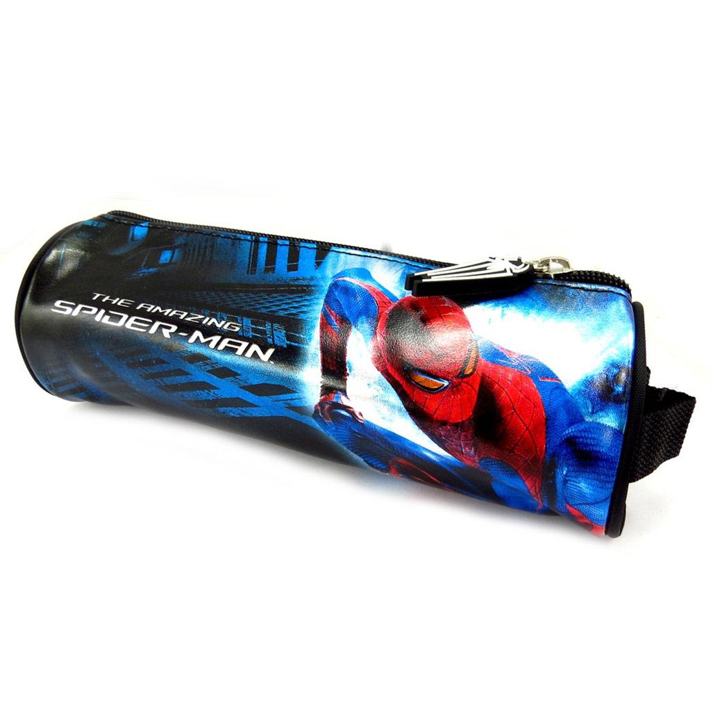 Trousse tube \'Spiderman\' bleu rouge noir - [K5478]