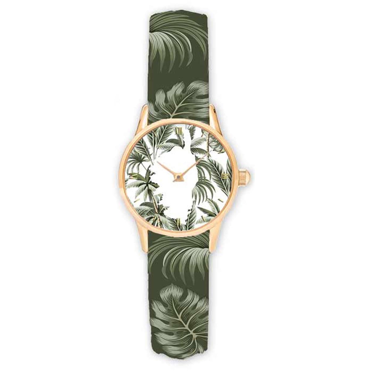 Montre créateur \'Corsica\' vert blanc - 38 cm - [R2325]