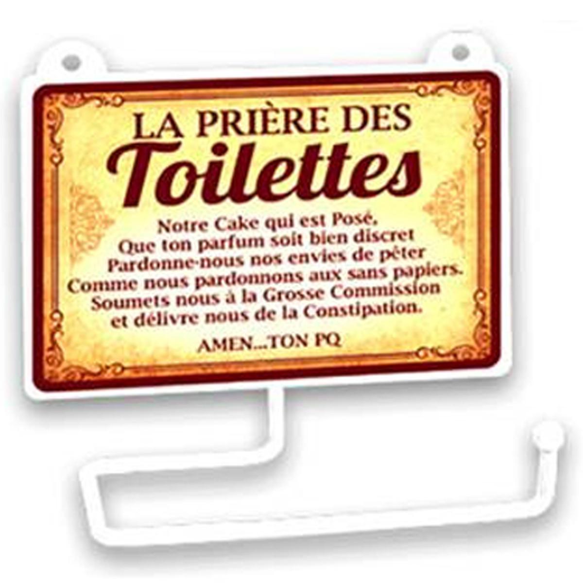 Dérouleur papier WC humoristique \'Messages\' (la Prière des Toilettes) - 15x125 cm - [R2337]