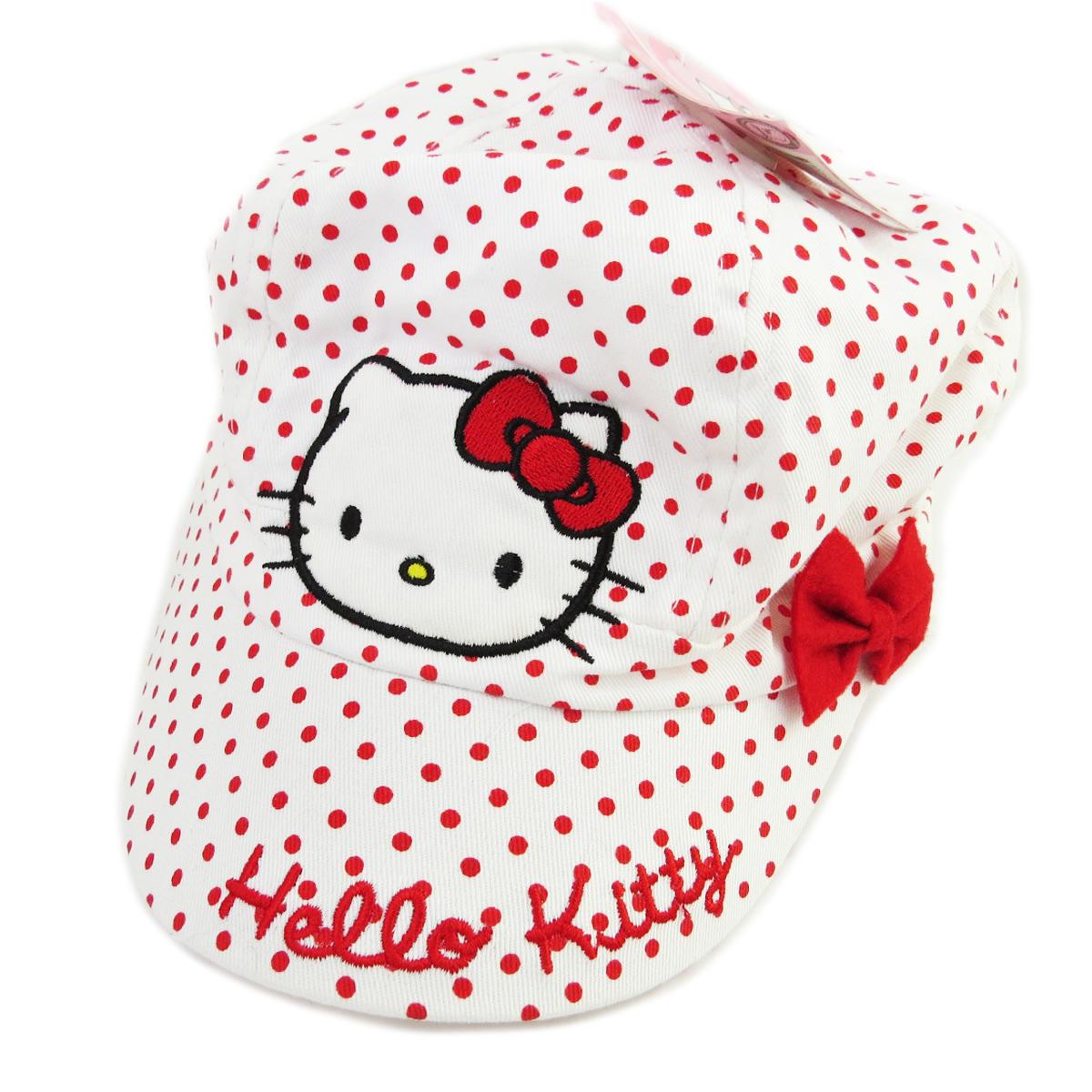 Casquette Enfant \'Hello Kitty\' blanc rouge - [R2339]
