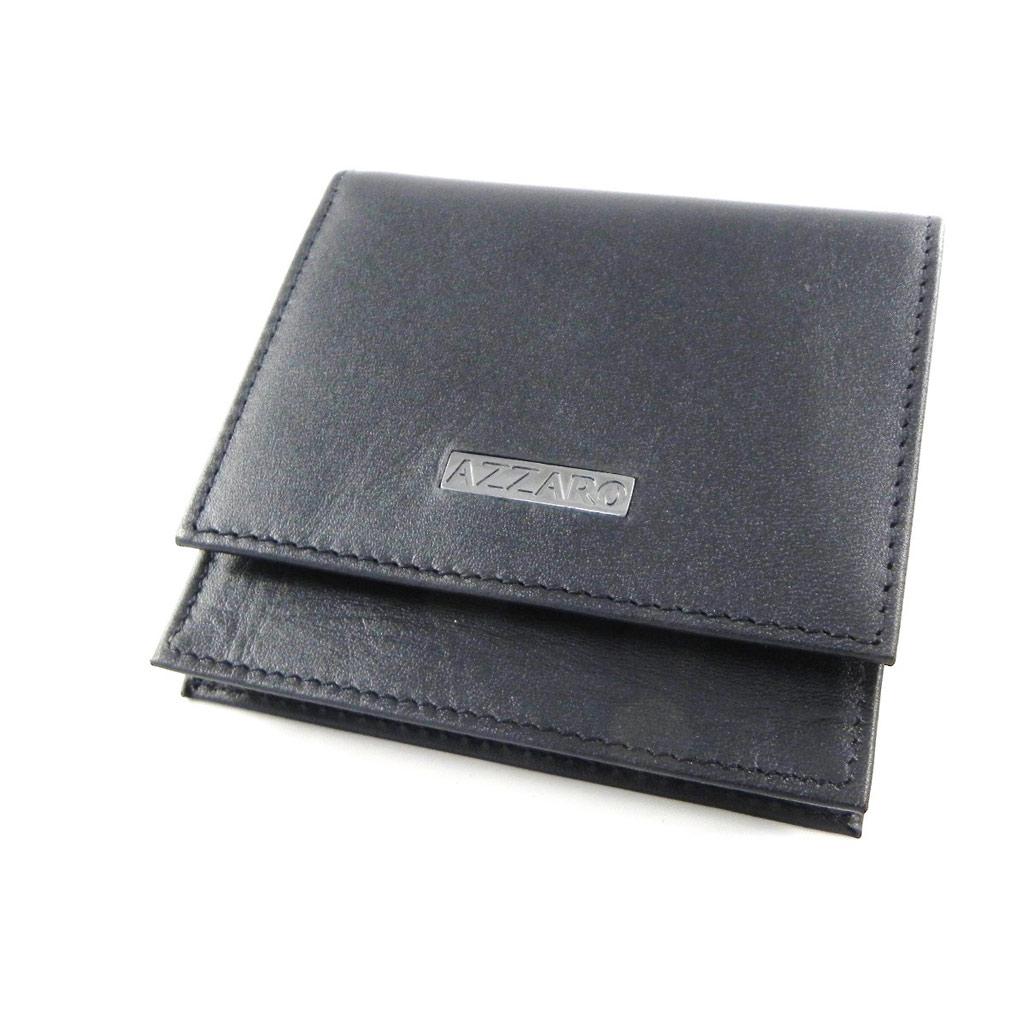 Porte-monnaie \'Azzaro\' noir (plat) - [H9725]