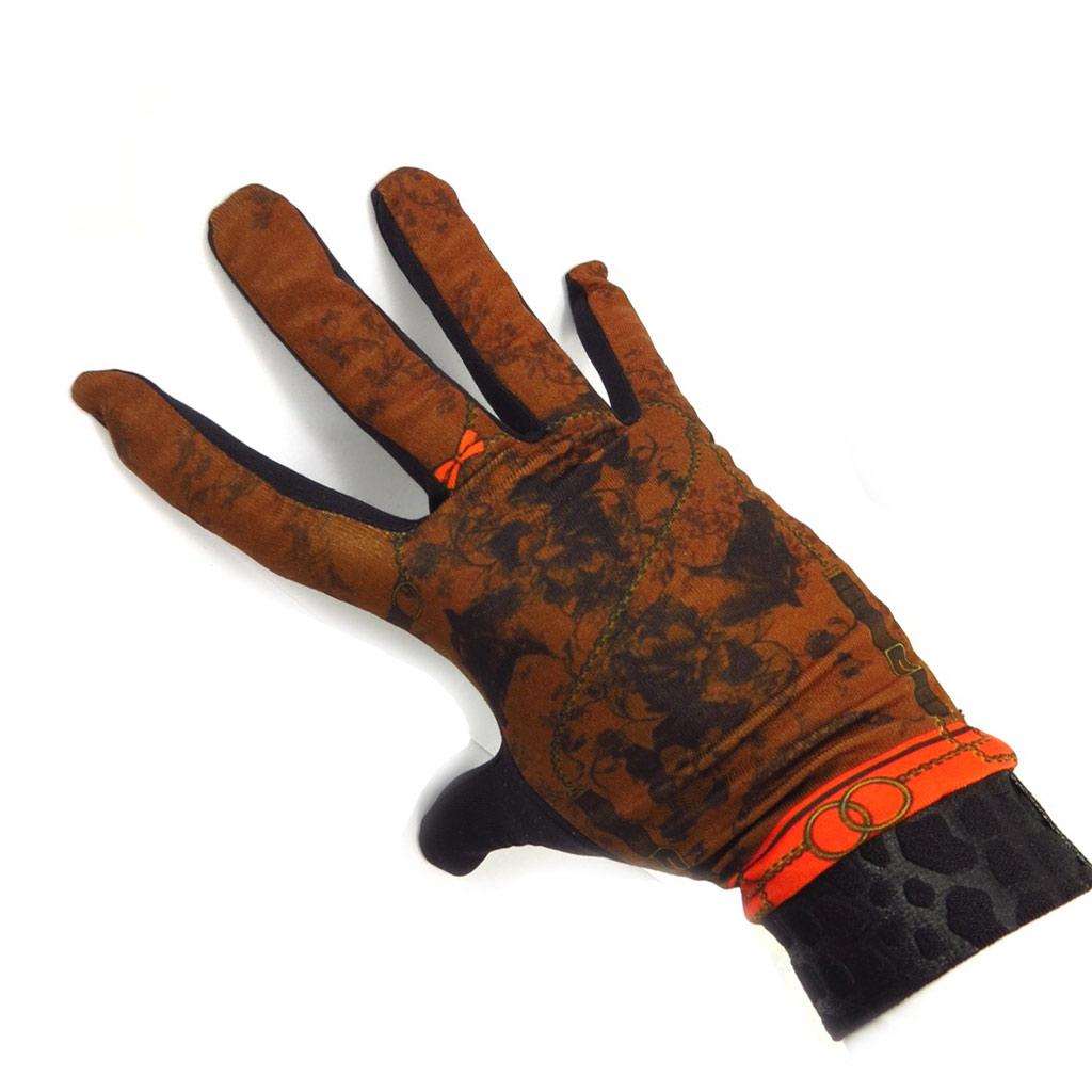 Gants créateur \'Equida\' noir marron - [K5745]