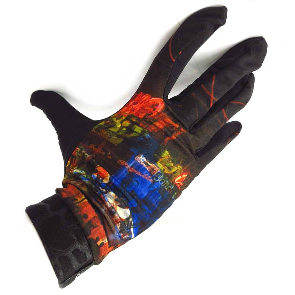 Gants créateur \'Cabaret\' noir multicolore - [K5746]